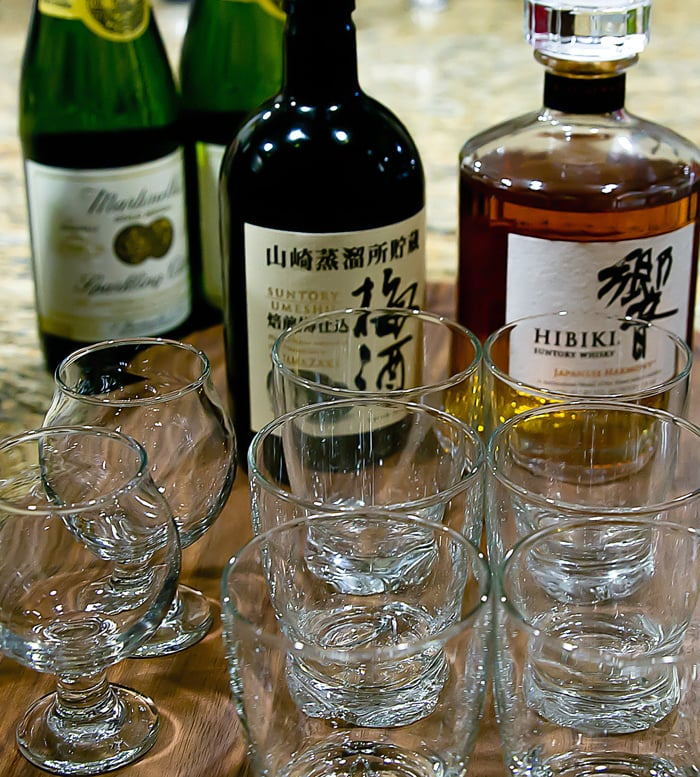 photo of different liquors and glassware