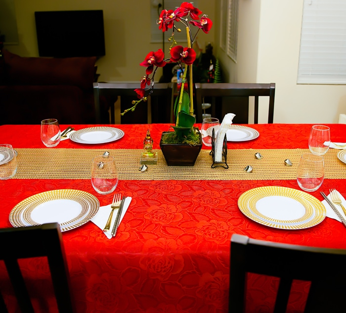 photo of the table for Chinese New Year
