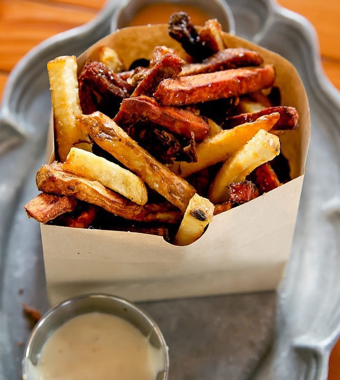photo of root fries