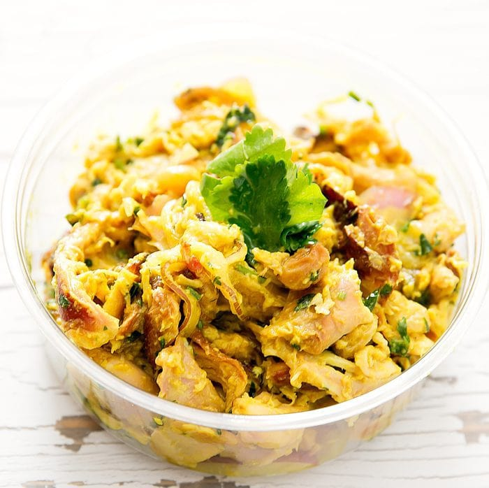 photo of smoked curry chicken salad