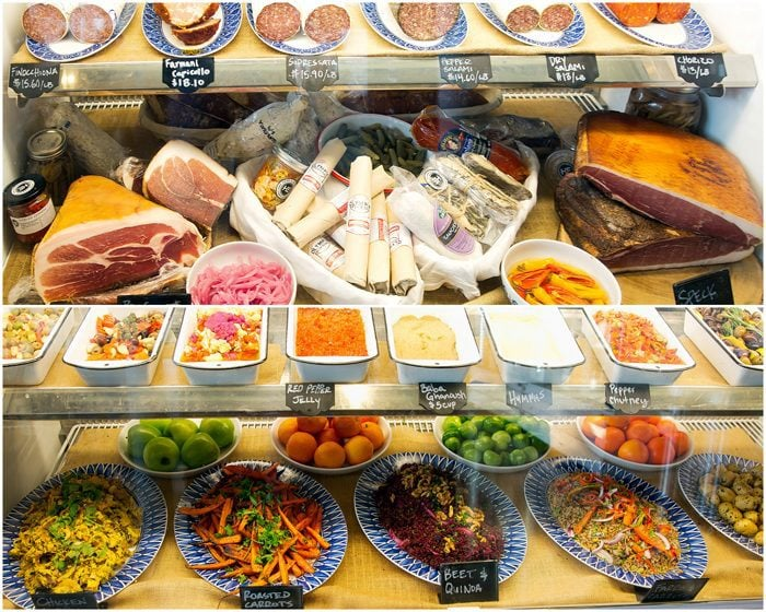 photo of the cheese and meat display