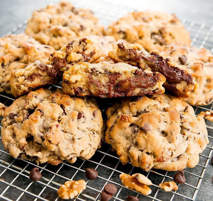 photo of Chocolate Chip Cookies on a baking rack