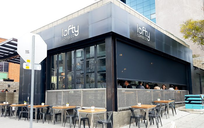photo of the outside of Lofty Coffee Co.