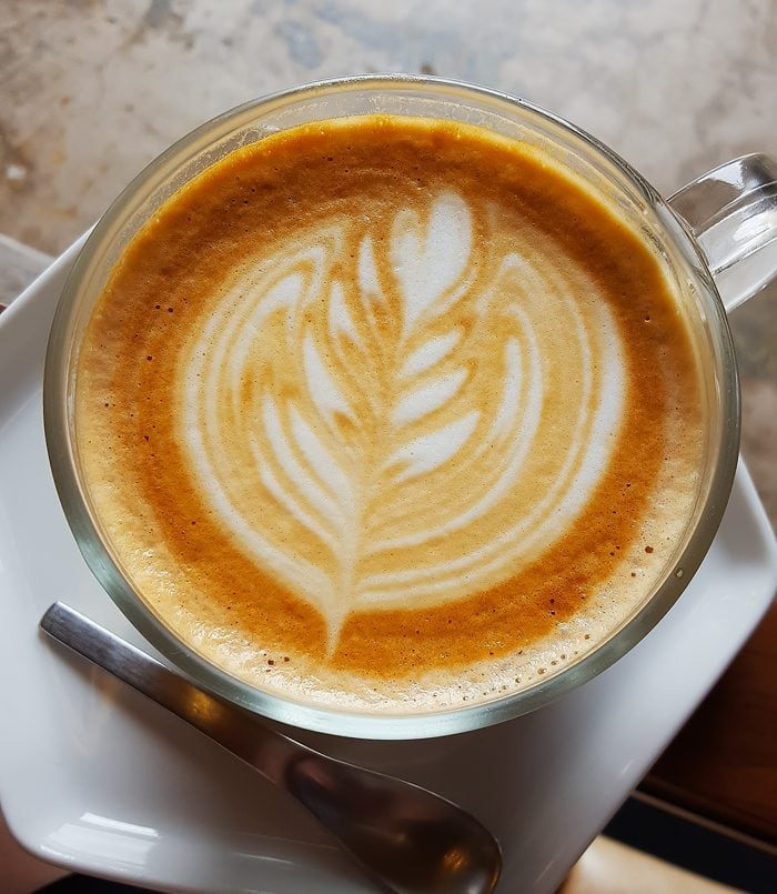 overhead photo of Latte from Moniker General