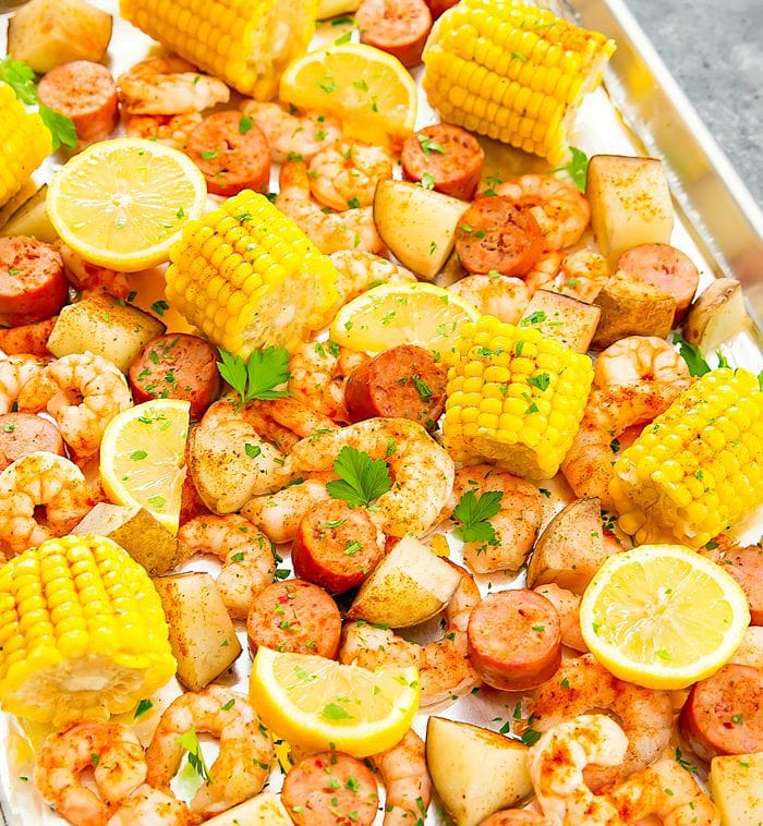 Foil Sheet Pan Oven Shrimp Boil photo