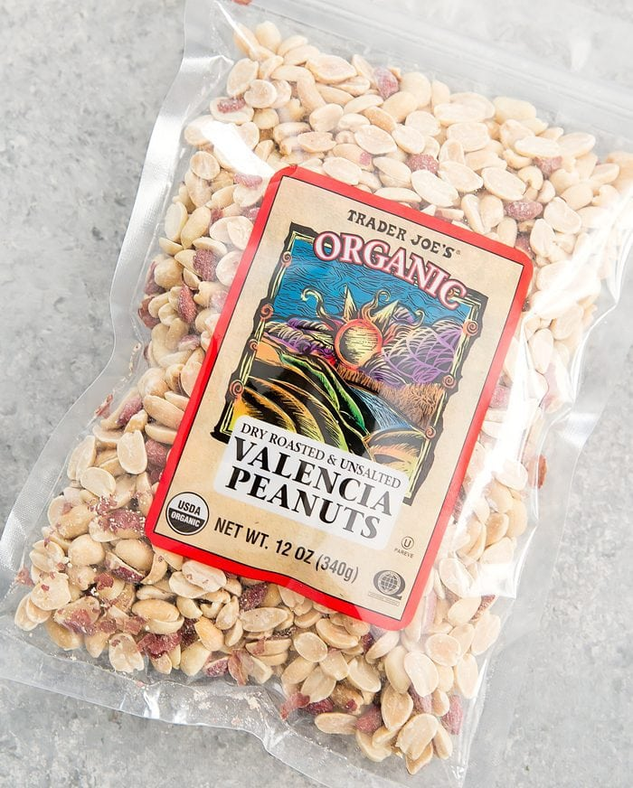 overhead photo of a package of Valencia Peanuts