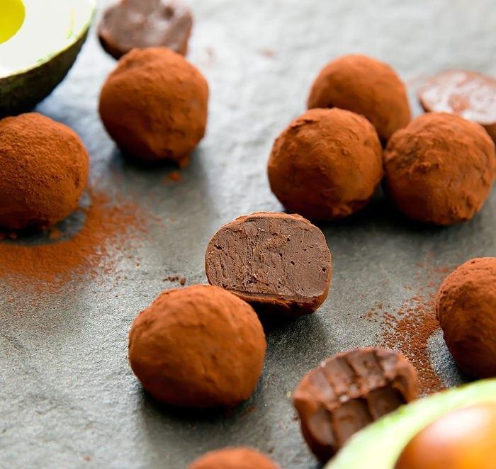 close-up photo of Chocolate Avocado Truffles