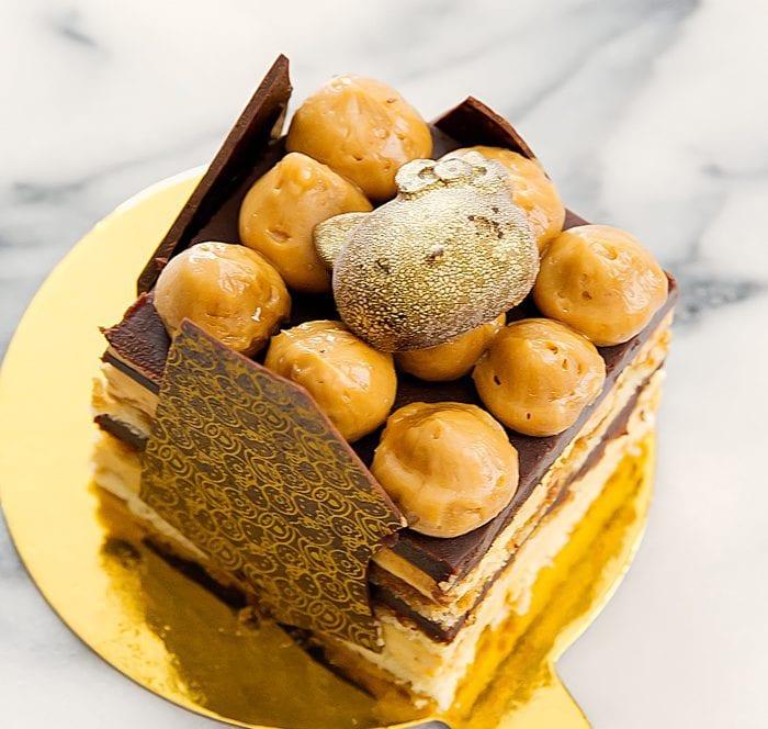 photo of opera cake
