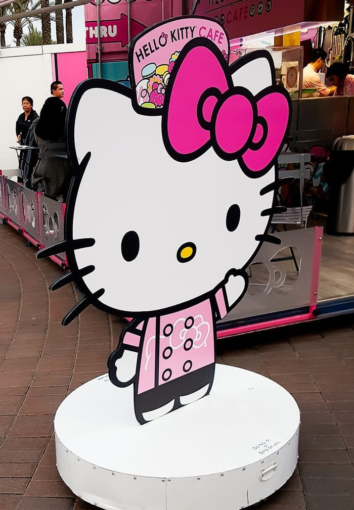 photo of a Hello Kitty Cafe sign