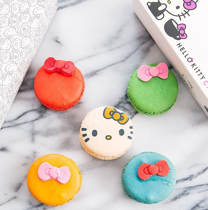 photo of hello kitty macarons