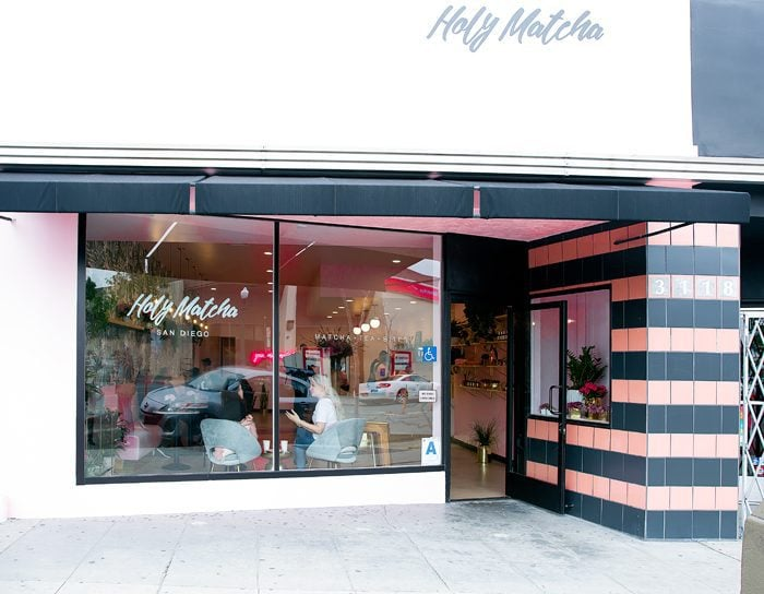 photo of the outside of Holy Matcha