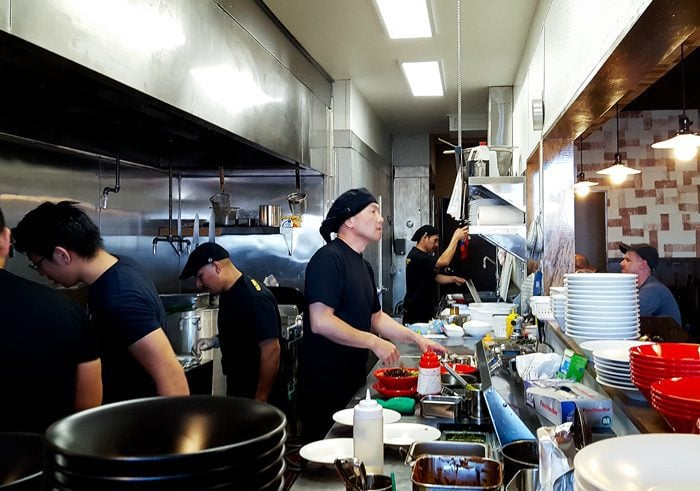 photo of the kitchen at Menya Ultra