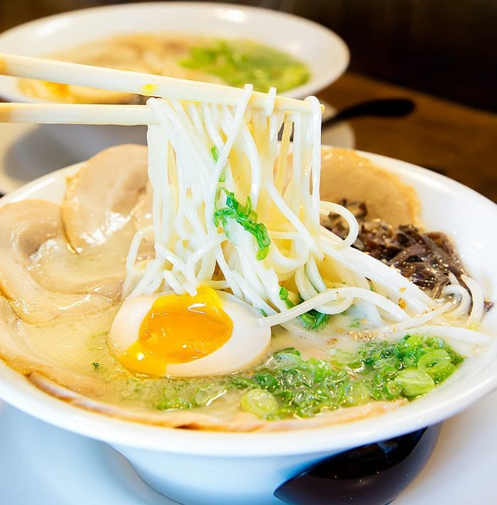 close-up photo of Tonkotsu Ajitama Ramen