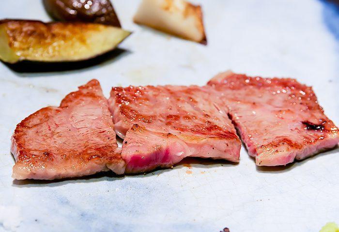 photo of cooked ribeye steaks