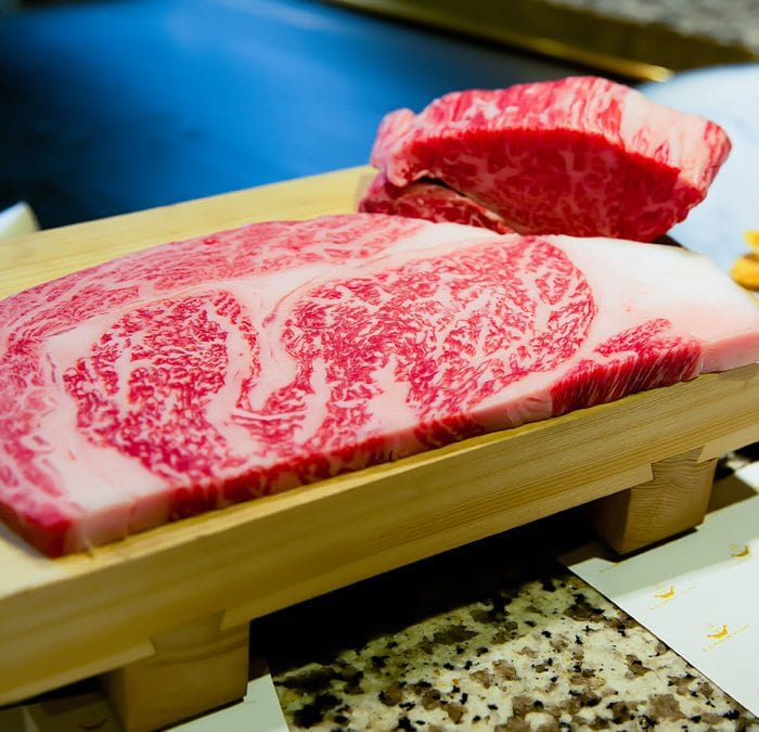 photo of raw steak at Mouriya Honten Kobe Beef Steak Restaurant