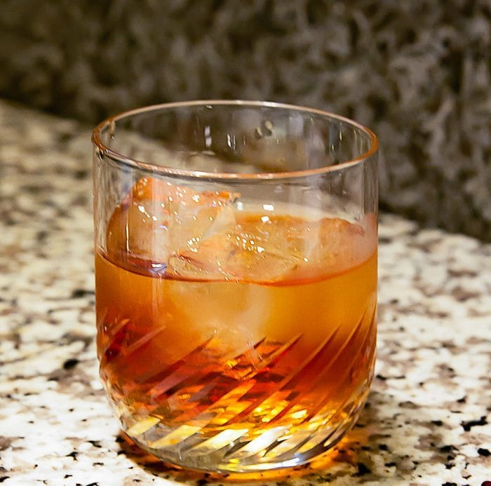 photo of a glass of plum wine