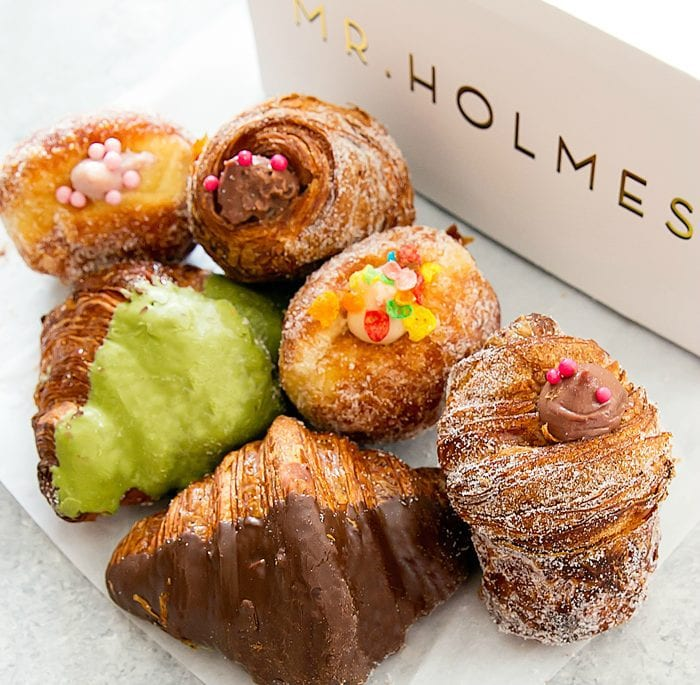 photo of pastries and a pastry box