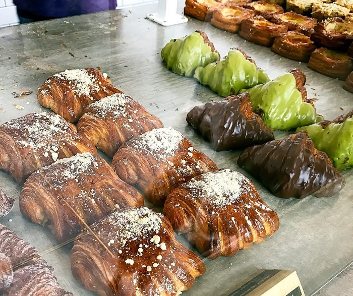 photo of more pastries in the display