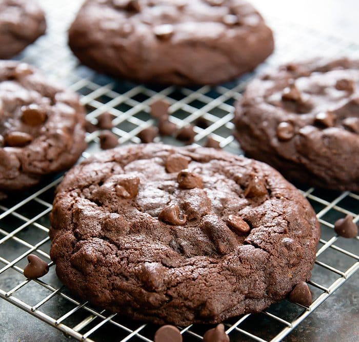 close-up photo of Chocolate Nutella Lava Cookies