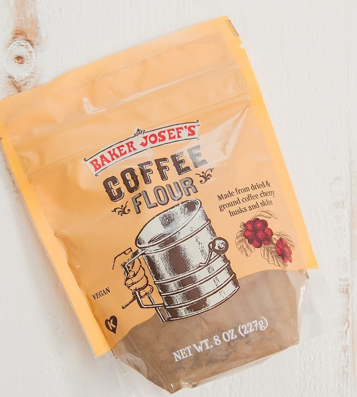 overhead photo of a package of Coffee Flour