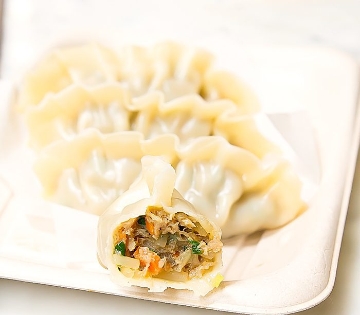 close-up photo of Beef Mandu