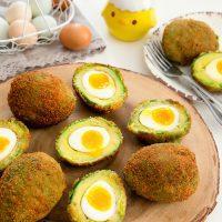 crispy eggs in avocados