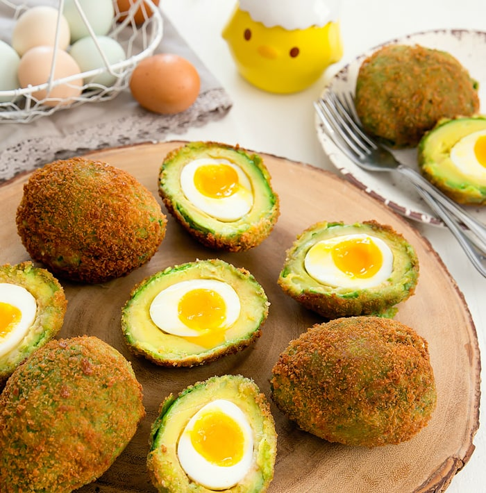 crispy eggs in avocados