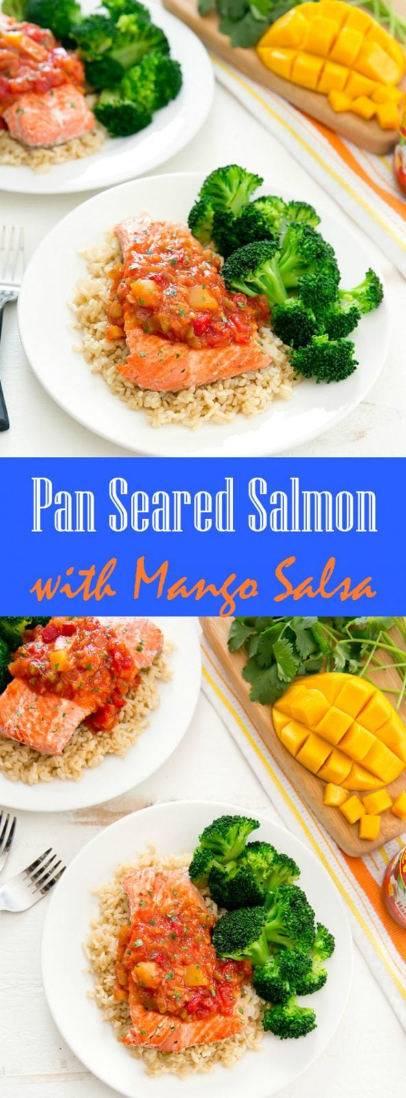 Pan Seared Salmon with Mango Salsa
