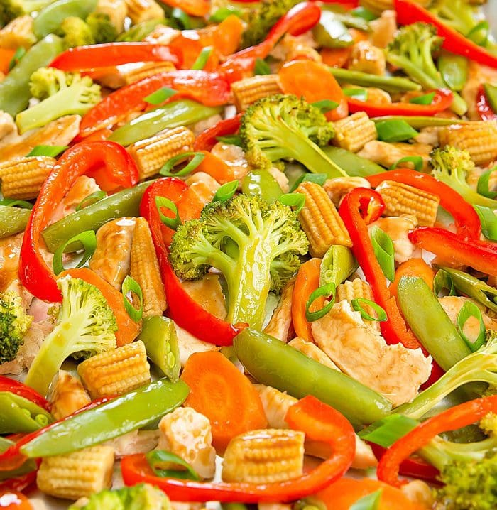 close-up photo of Sheet Pan Stir Fry
