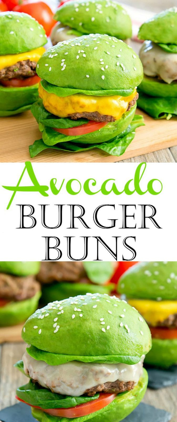 Avocado Burger Bun Cheeseburgers