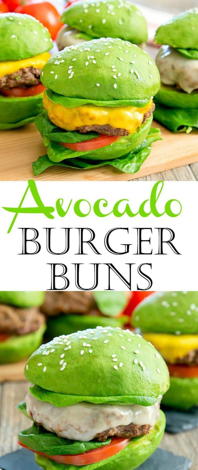 Avocado Burger Bun Cheeseburgers