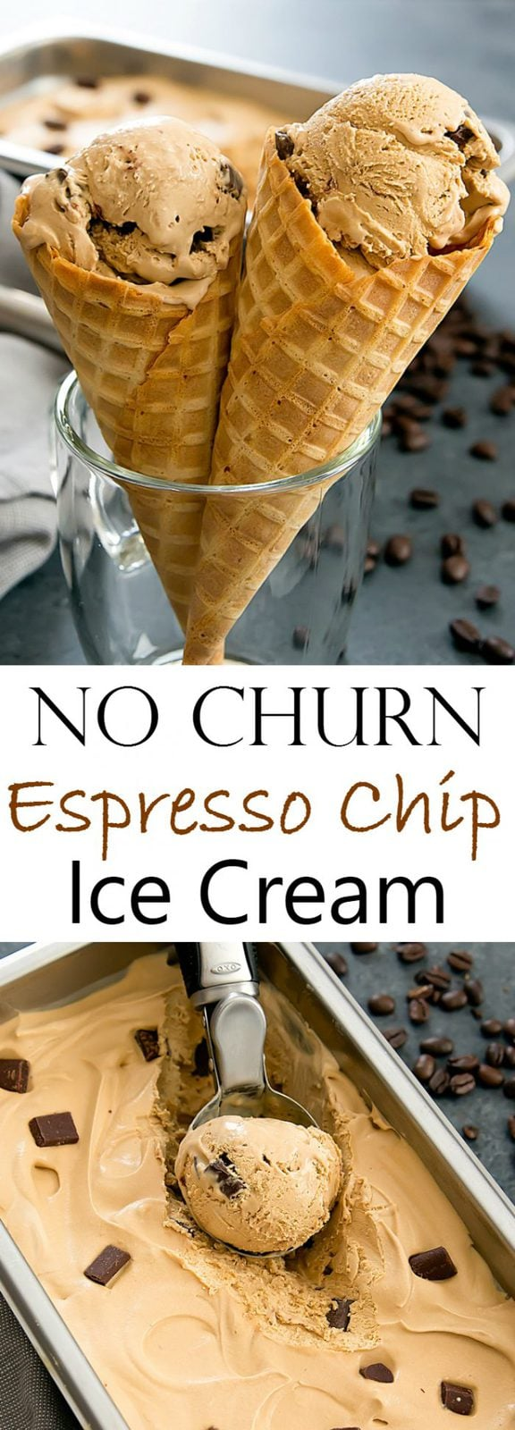 No Churn Espresso Chocolate Chip Ice Cream