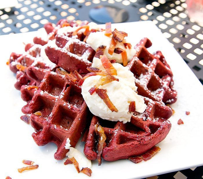 photo of Red Velvet Waffles from Red Card Cafe