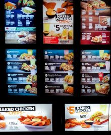 photo of first part of Taco Bell Menu