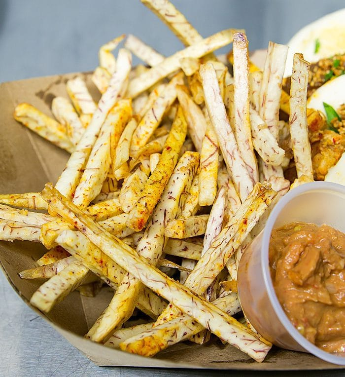 close-up photo of Taro Fries