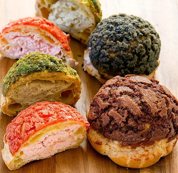 photo of different cream puffs at Blush Desserts