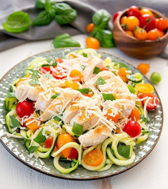 Bruschetta Chicken Zucchini Pasta