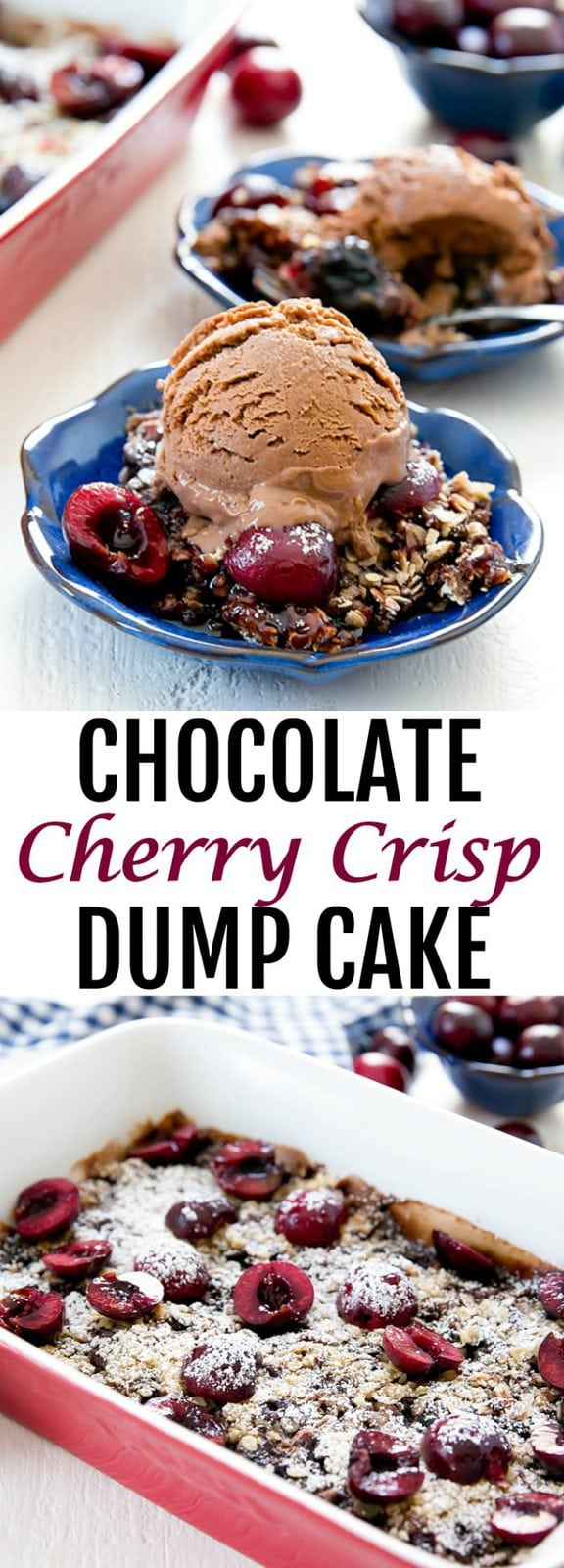 Chocolate Cherry Crisp Dump Cake