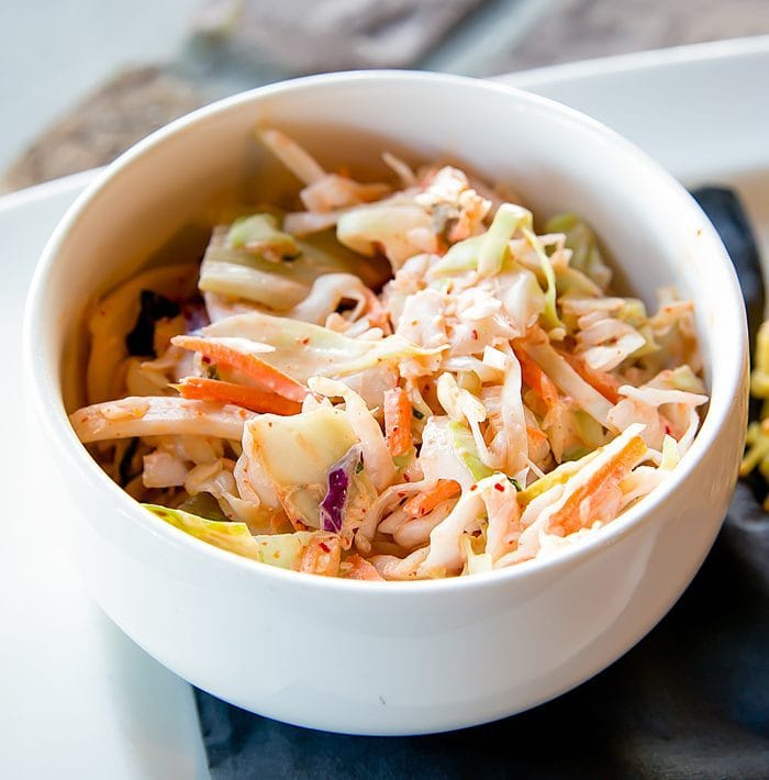 photo of a bowl of coleslaw