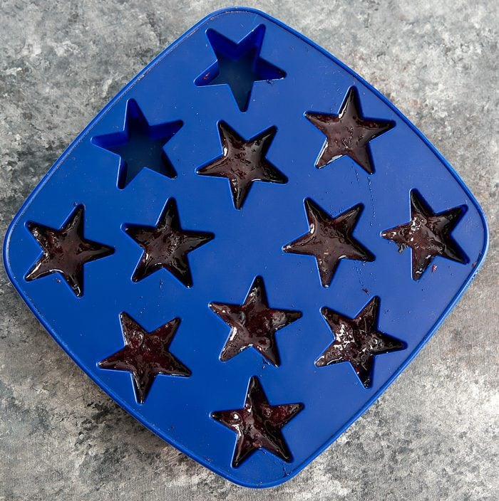 overhead photo of star-shaped ice cube tray