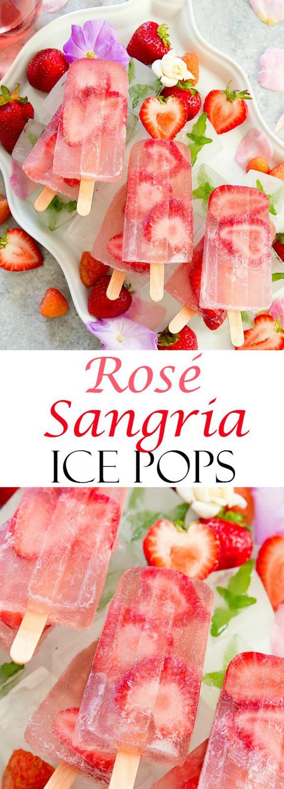 Rosé Sangria Summer Ice Pops