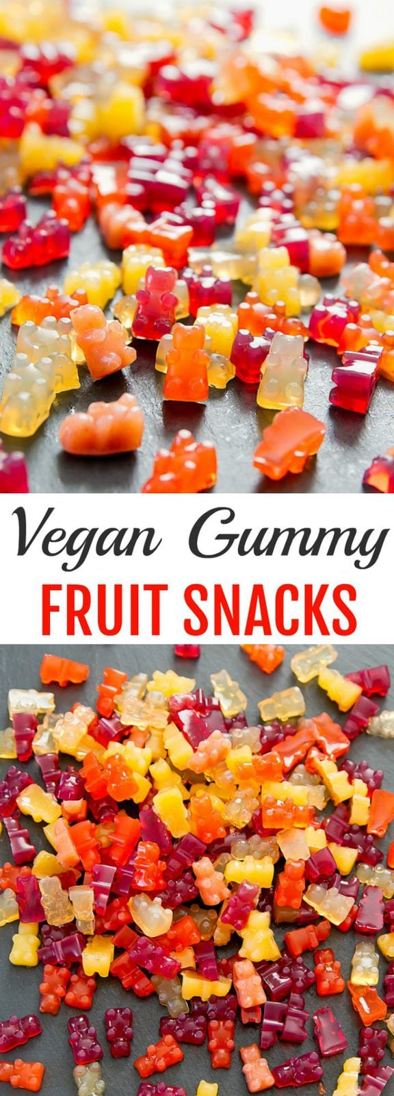 Homemade Vegan Gummy Fruit Snacks