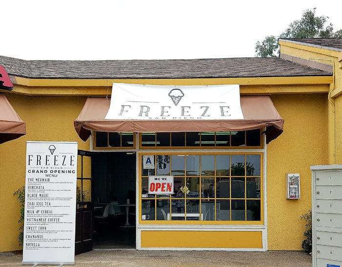 photo of the outside of Freeze