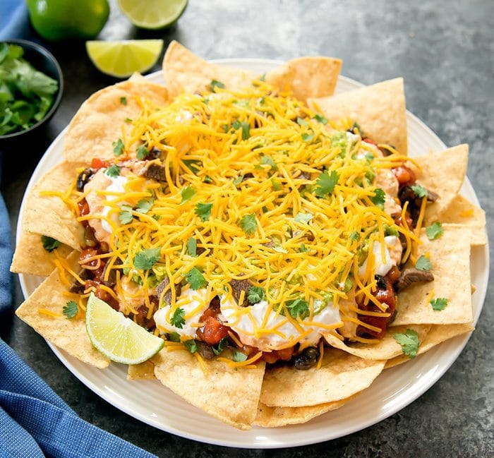 photo of loaded nachos