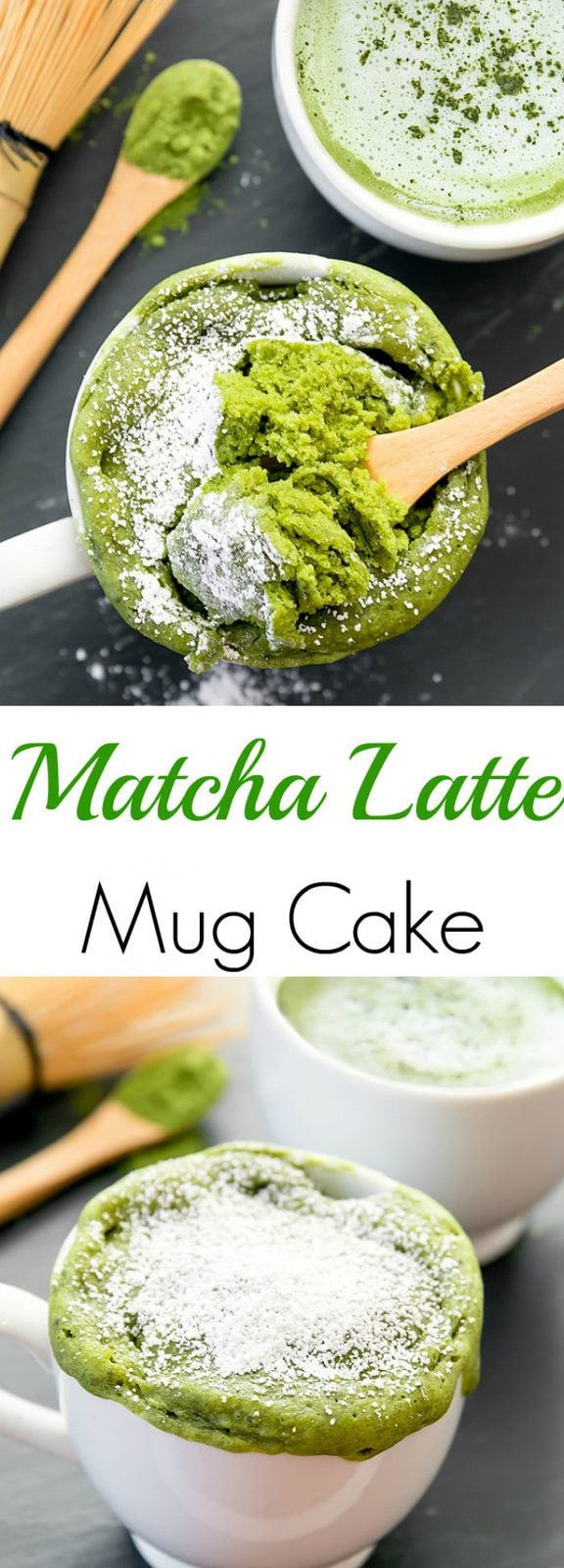 Single Serving Matcha Latte Mug Cake