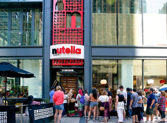 photo of the outside of Nutella Cafe