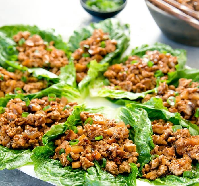 chicken lettuce wraps pf chang's copycat recipe  kirbie's cravings