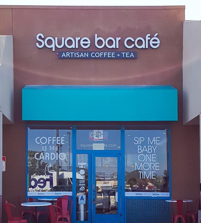 photo of the outside of Square Bar Cafe