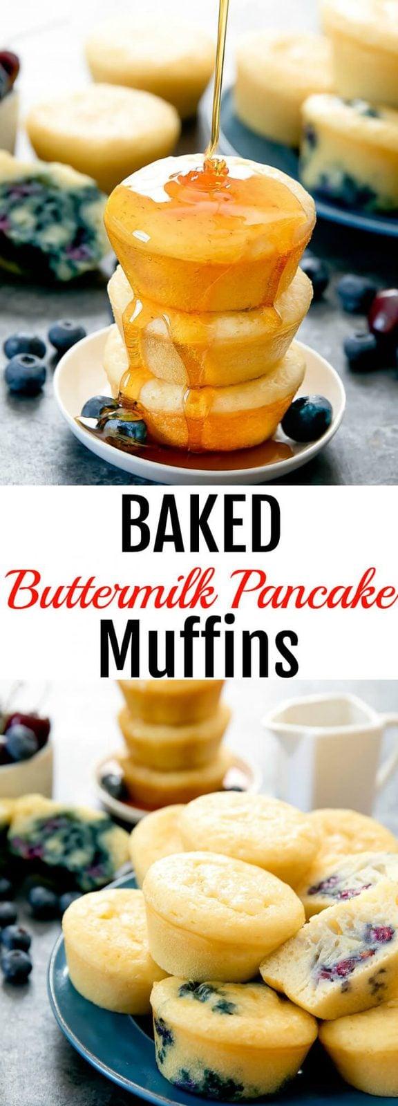 Baked Buttermilk Pancake Muffins