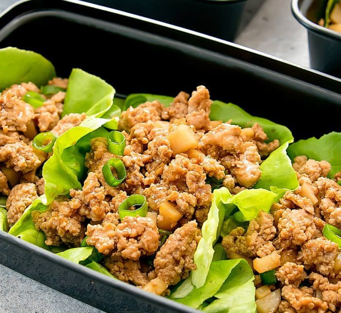 close-up photo of Chicken Lettuce Wraps